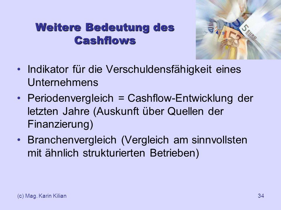 Weitere Bedeutung des Cashflows