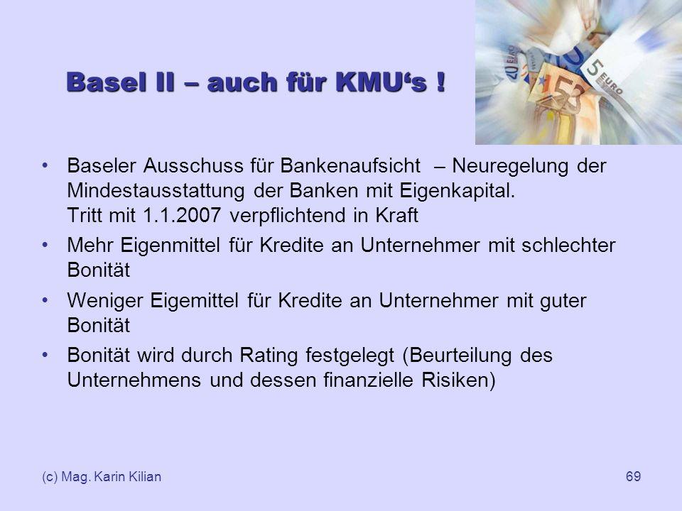 Basel II – auch für KMU's !