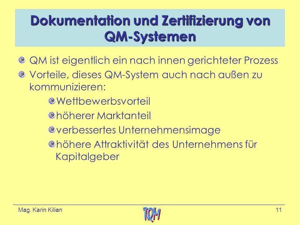 Dokumentation und Zertifizierung von QM-Systemen