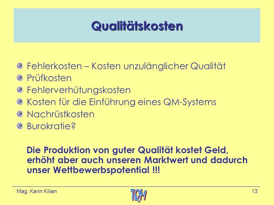 Qualitätskosten Fehlerkosten – Kosten unzulänglicher Qualität