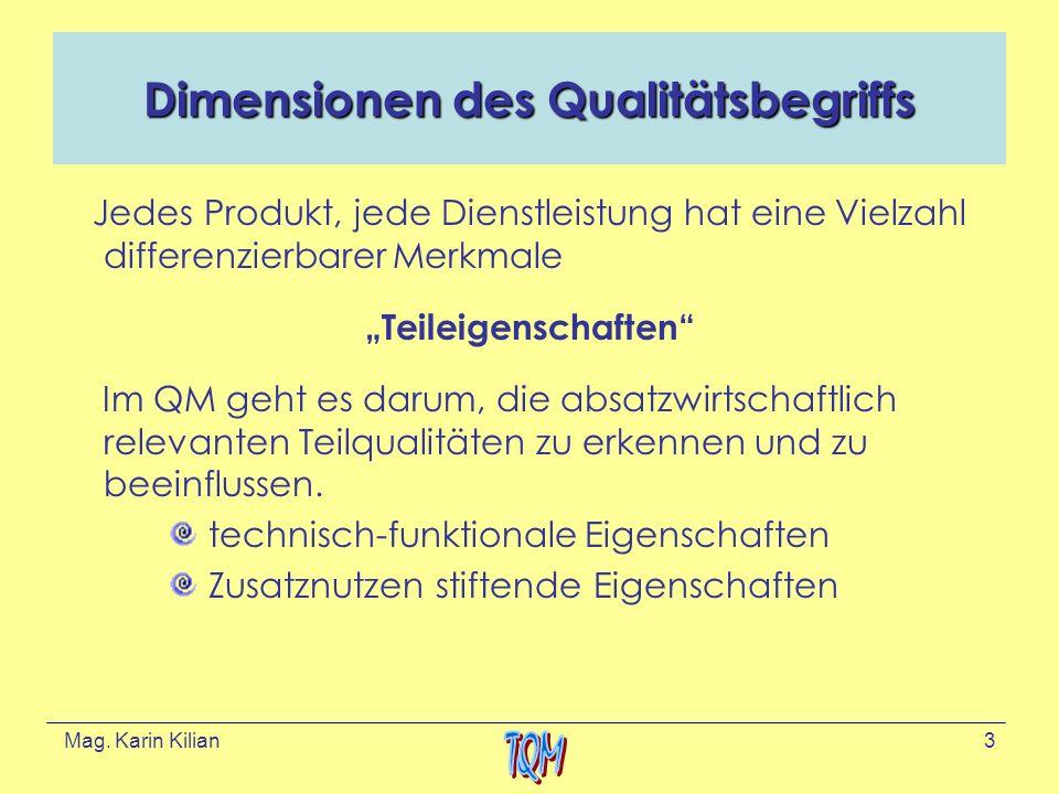 Dimensionen des Qualitätsbegriffs