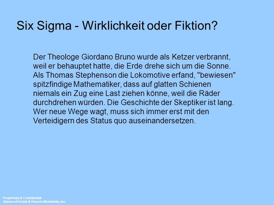 Six Sigma - Wirklichkeit oder Fiktion