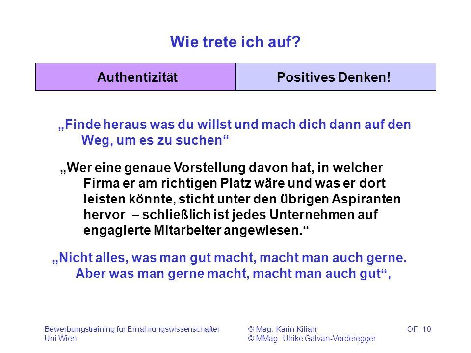 Wie trete ich auf Authentizität Positives Denken!