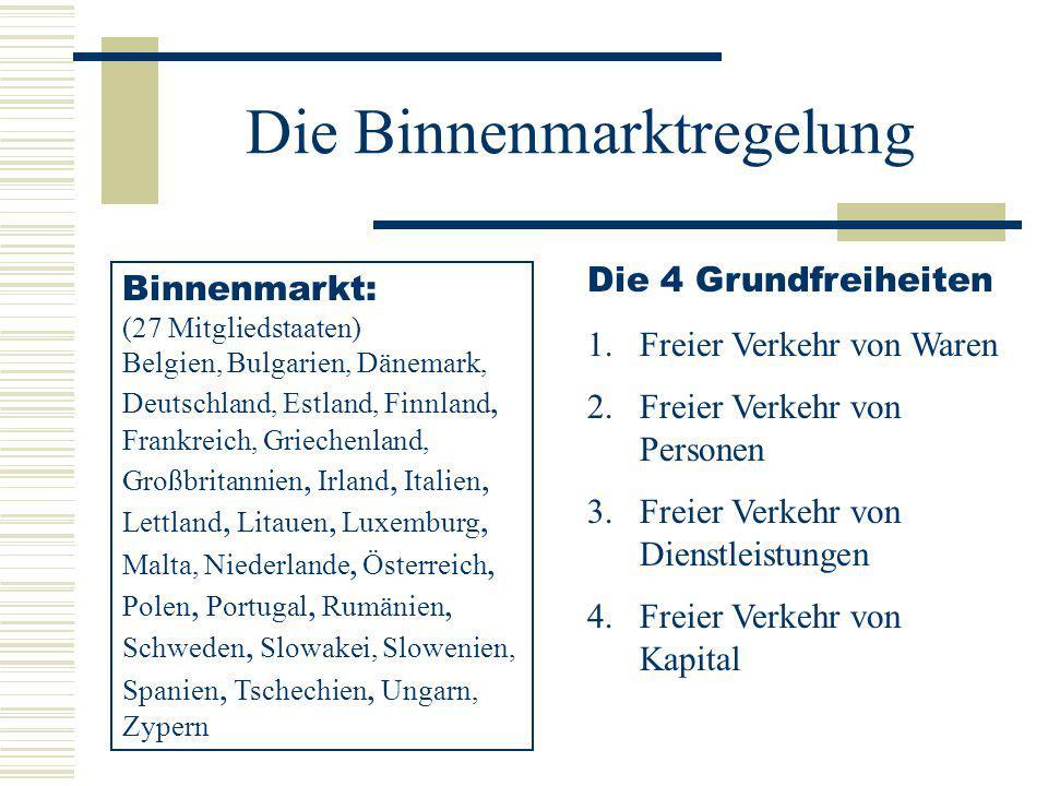 Die Binnenmarktregelung