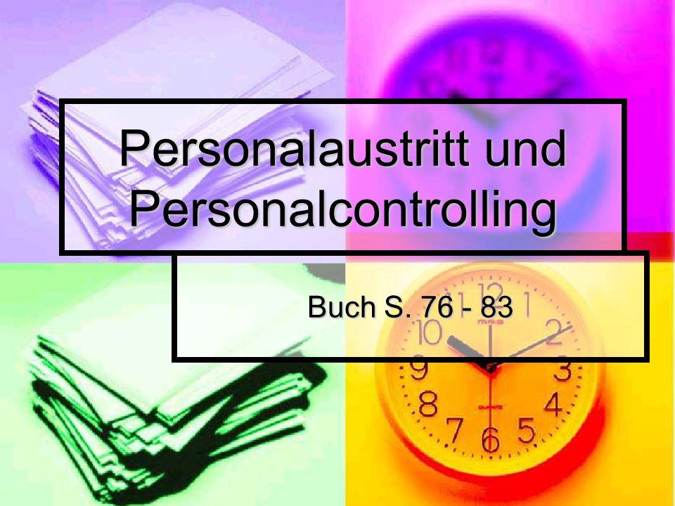 Personalaustritt und Personalcontrolling