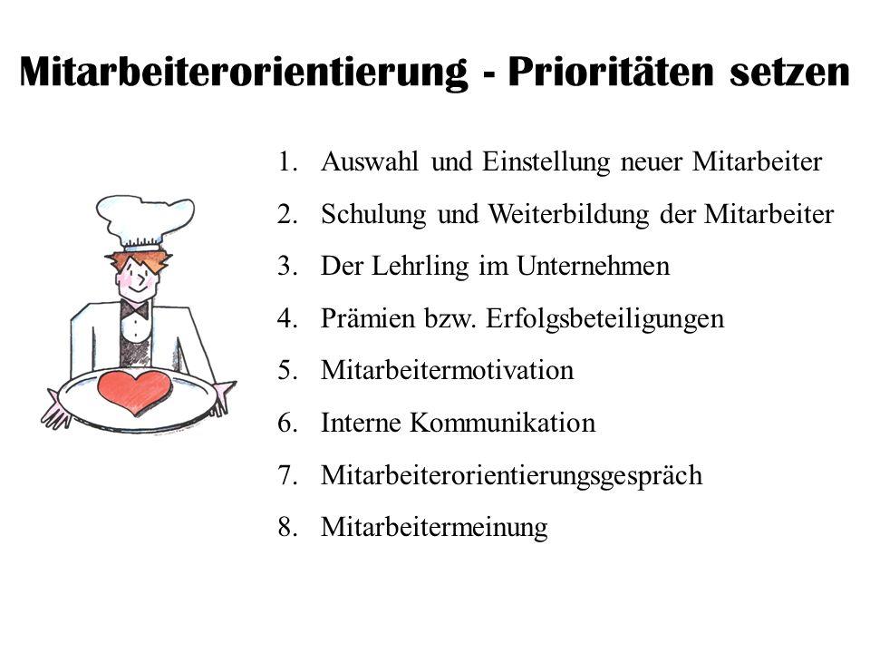 Mitarbeiterorientierung - Prioritäten setzen