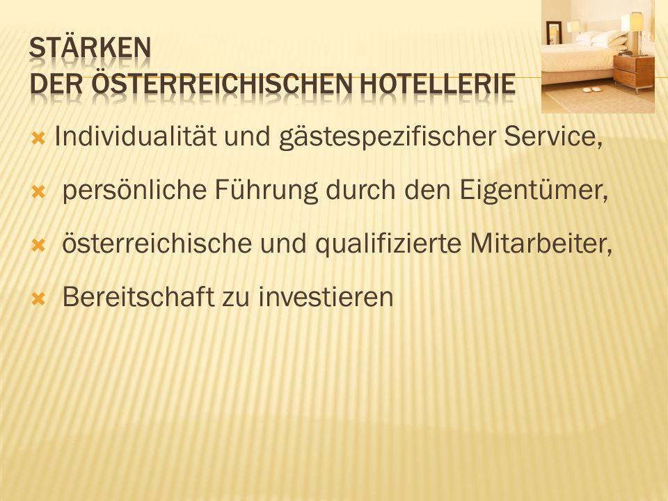 Stärken der österreichischen Hotellerie