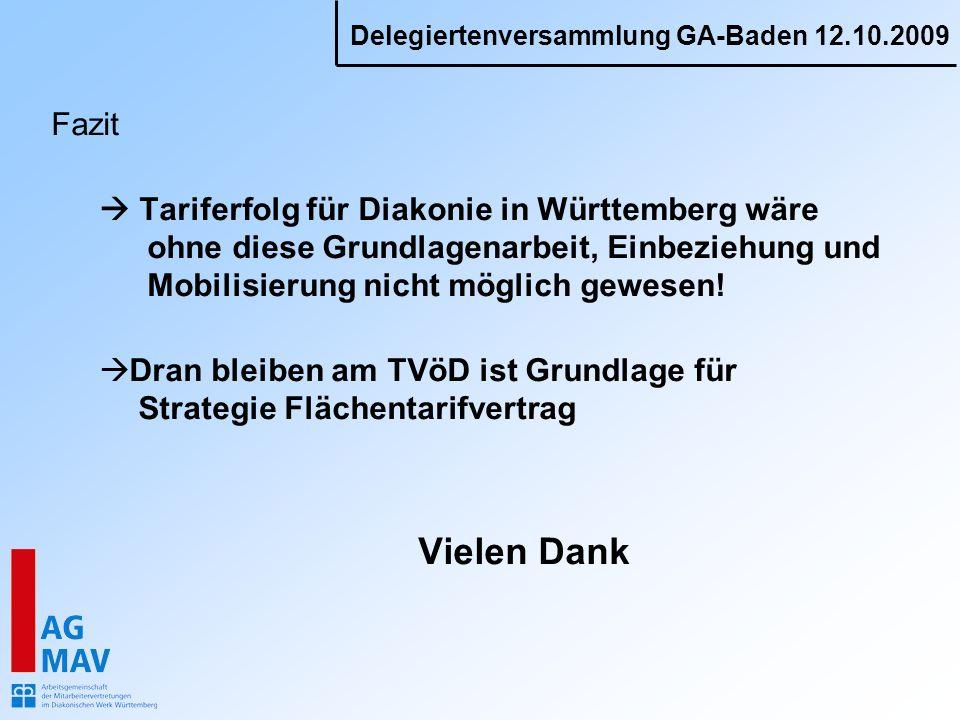 Fazit  Tariferfolg für Diakonie in Württemberg wäre ohne diese Grundlagenarbeit, Einbeziehung und Mobilisierung nicht möglich gewesen!