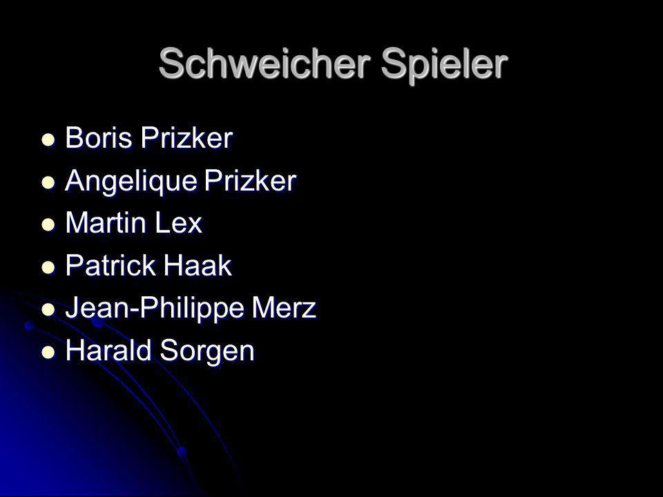 Schweicher Spieler Boris Prizker Angelique Prizker Martin Lex