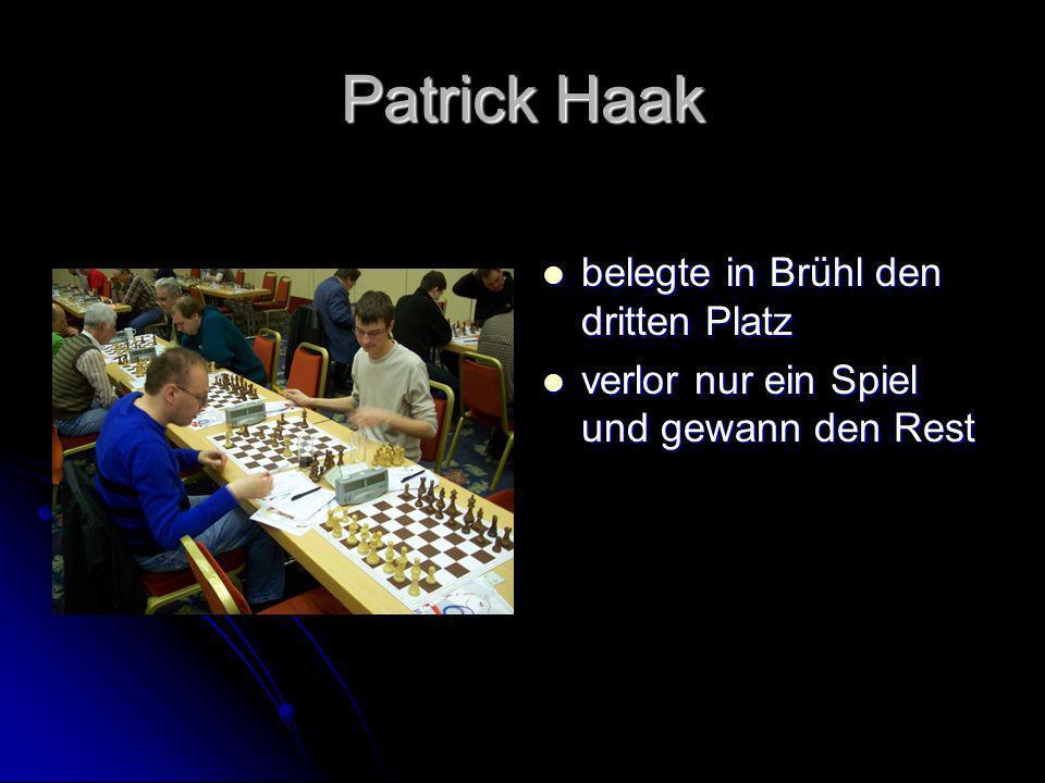 Patrick Haak belegte in Brühl den dritten Platz