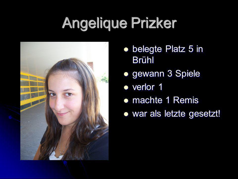 Angelique Prizker belegte Platz 5 in Brühl gewann 3 Spiele verlor 1