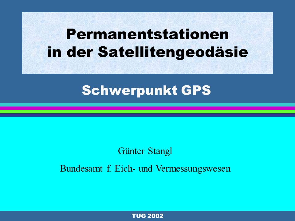 Permanentstationen in der Satellitengeodäsie