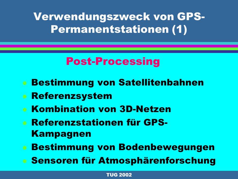 Verwendungszweck von GPS-Permanentstationen (1)