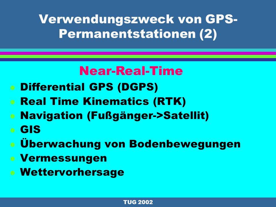 Verwendungszweck von GPS-Permanentstationen (2)