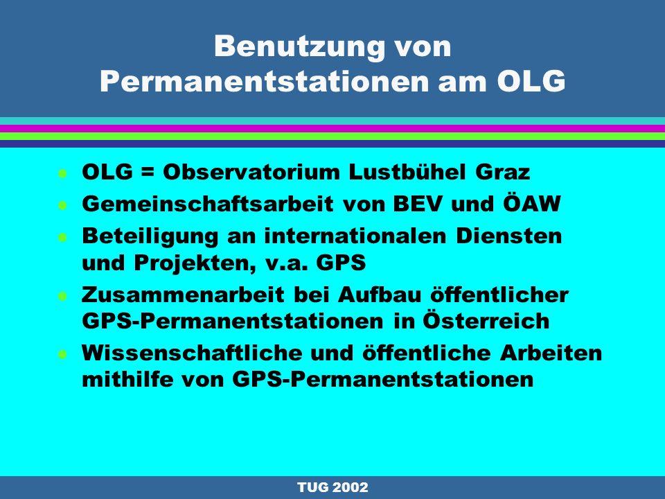 Benutzung von Permanentstationen am OLG