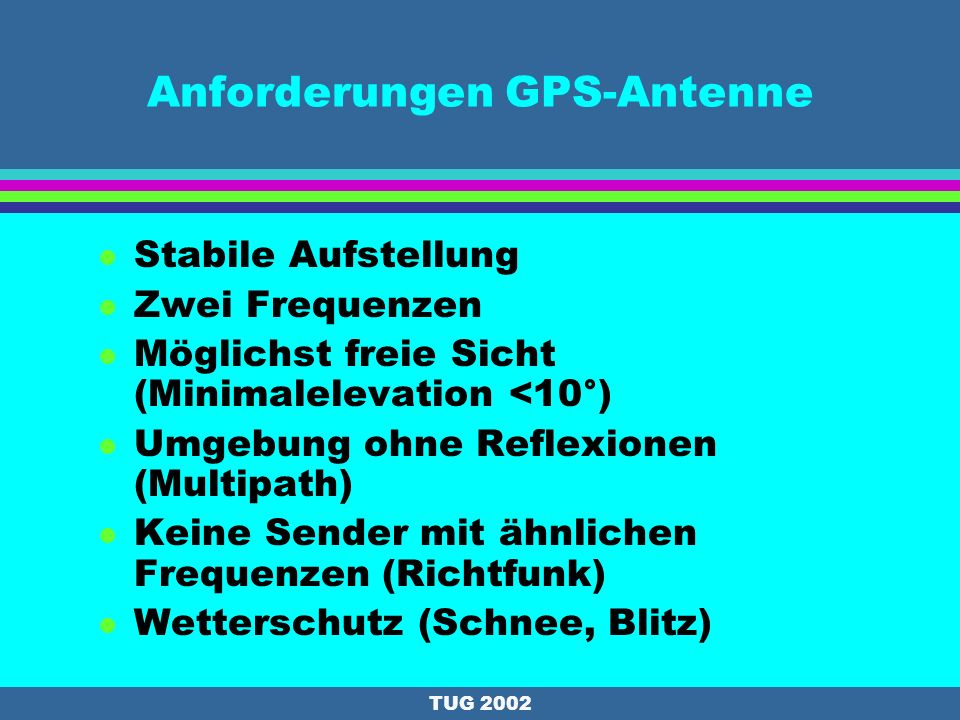 Anforderungen GPS-Antenne
