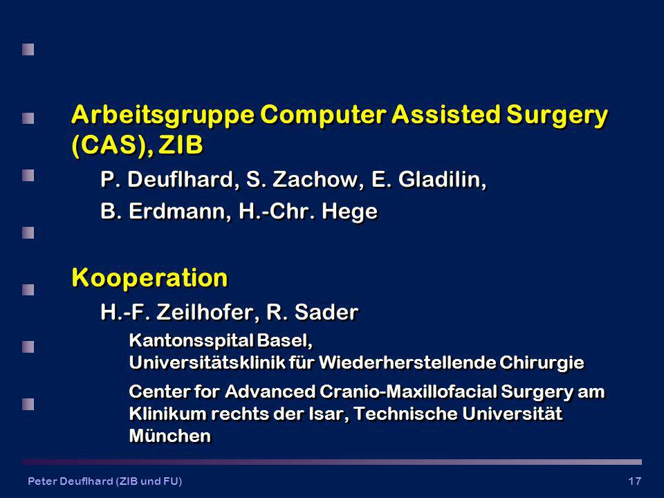 Arbeitsgruppe Computer Assisted Surgery (CAS), ZIB