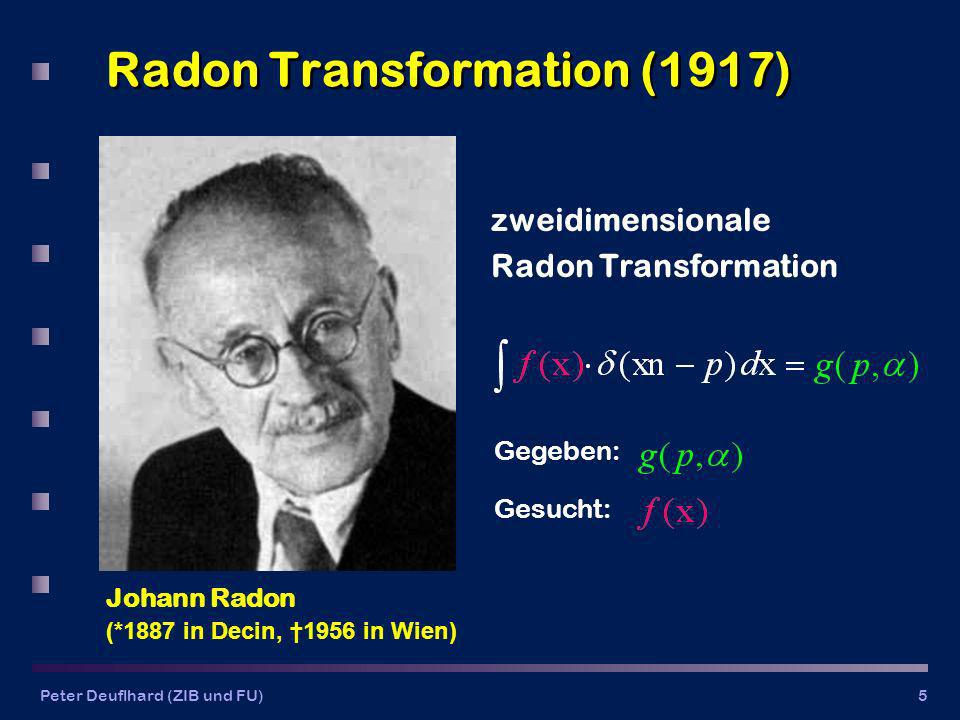 Radon Transformation (1917)