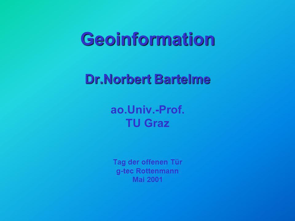 Geoinformation Dr. Norbert Bartelme ao. Univ. -Prof