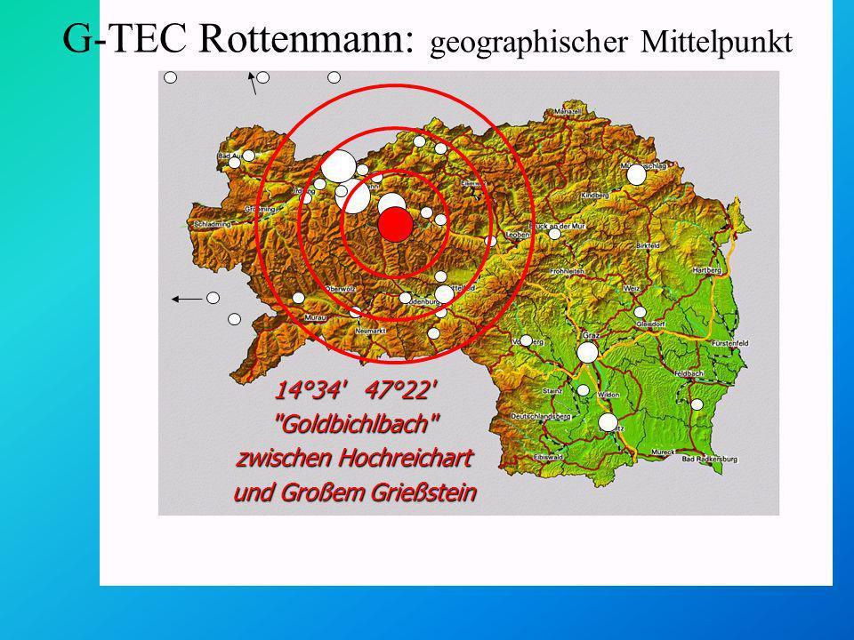 G-TEC Rottenmann: geographischer Mittelpunkt