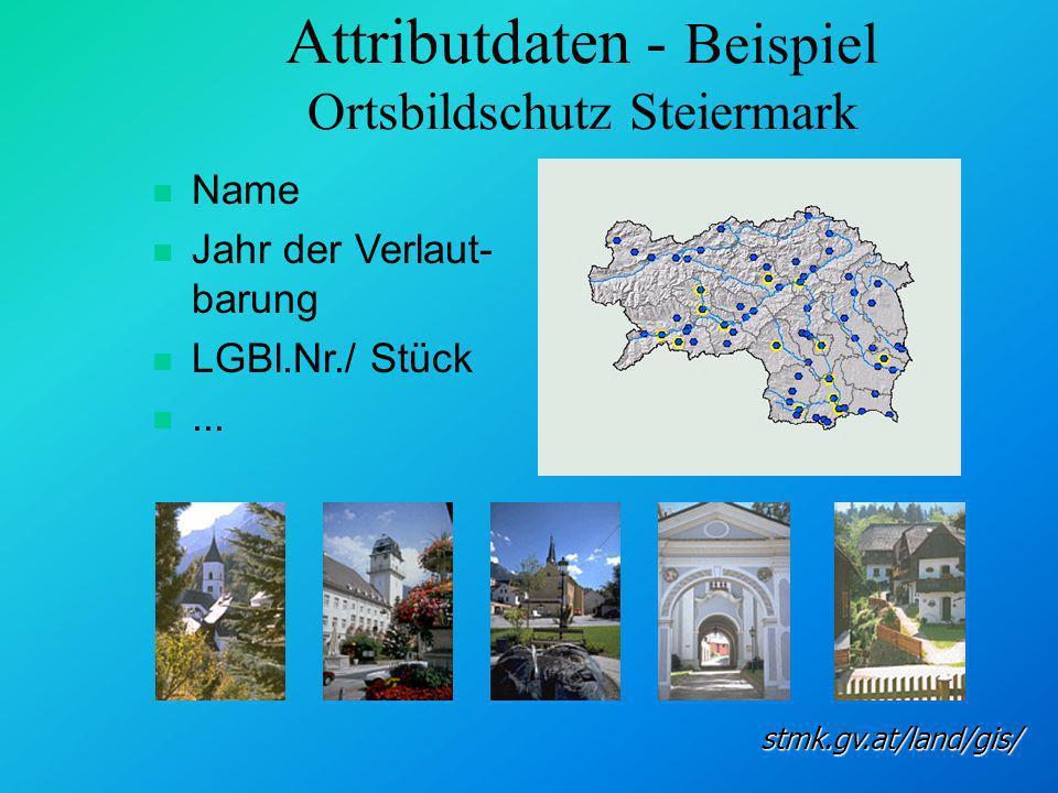 Attributdaten - Beispiel Ortsbildschutz Steiermark