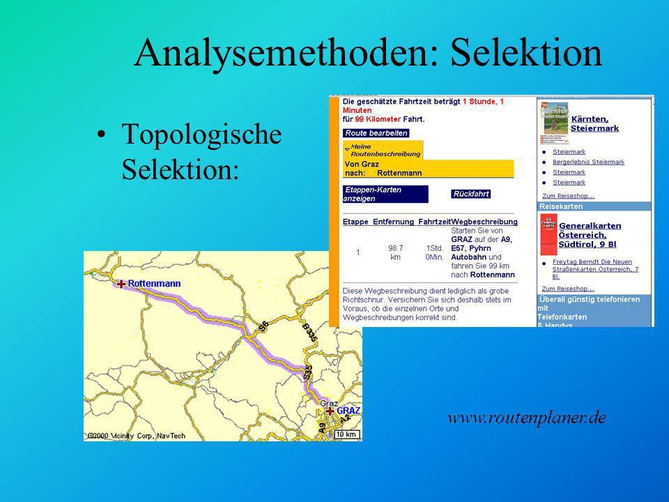 Analysemethoden: Selektion