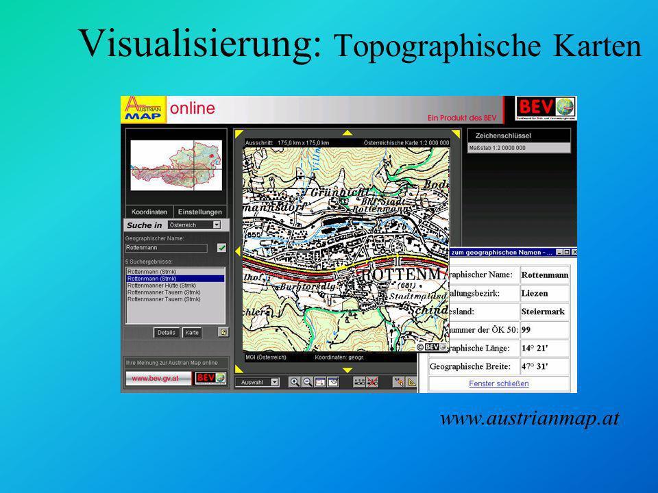 Visualisierung: Topographische Karten