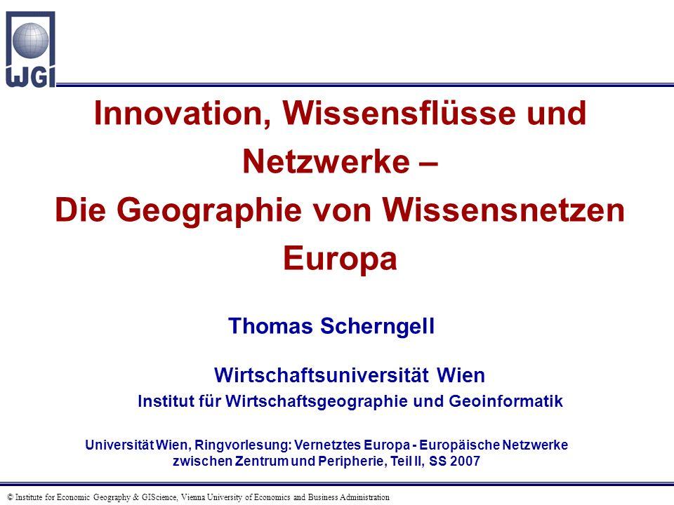 Agenda Einführung und Kontext A Der Innovationsprozess