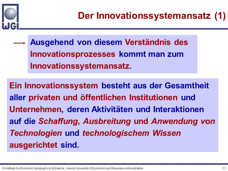 Der Innovationssystemansatz (2)