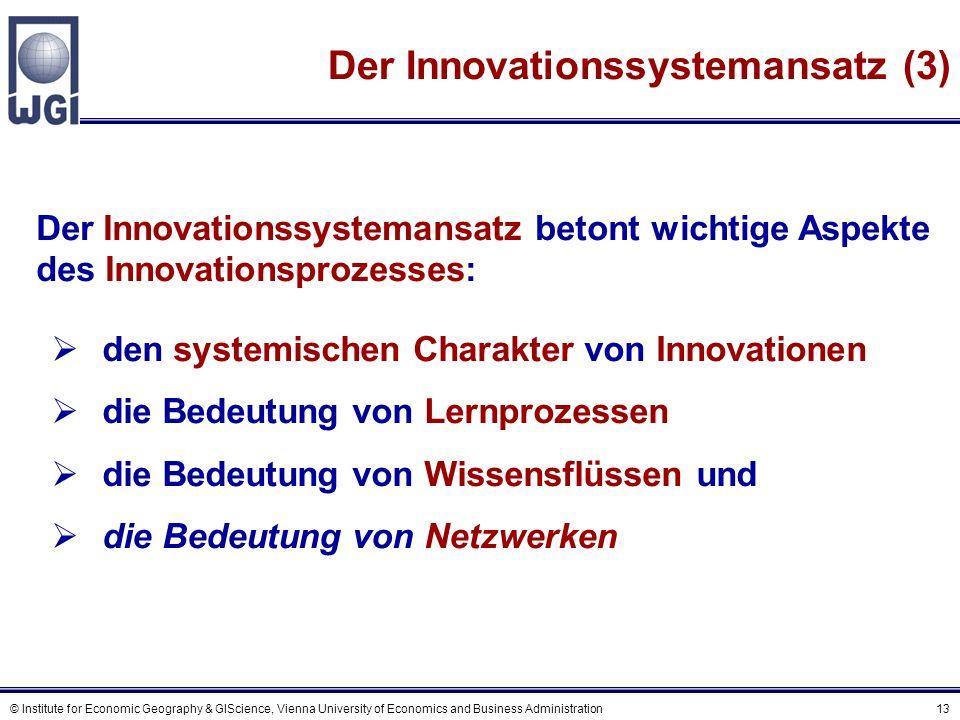B Unternehmensnetzwerke und Innovation