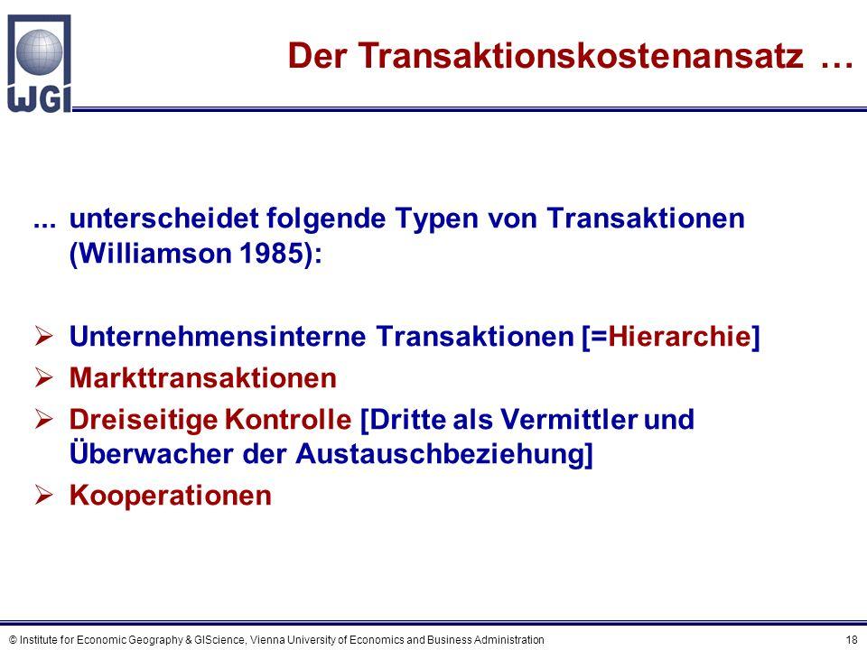 Transaktionskostenansatz (2)
