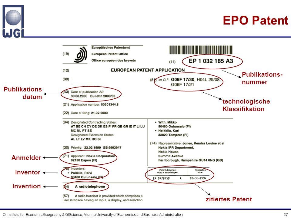 Einschränkungen von Patentzitierungsdaten