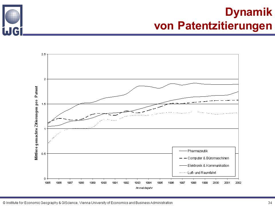 High-Tech Patentzitierungsintensität in europäischen Regionen