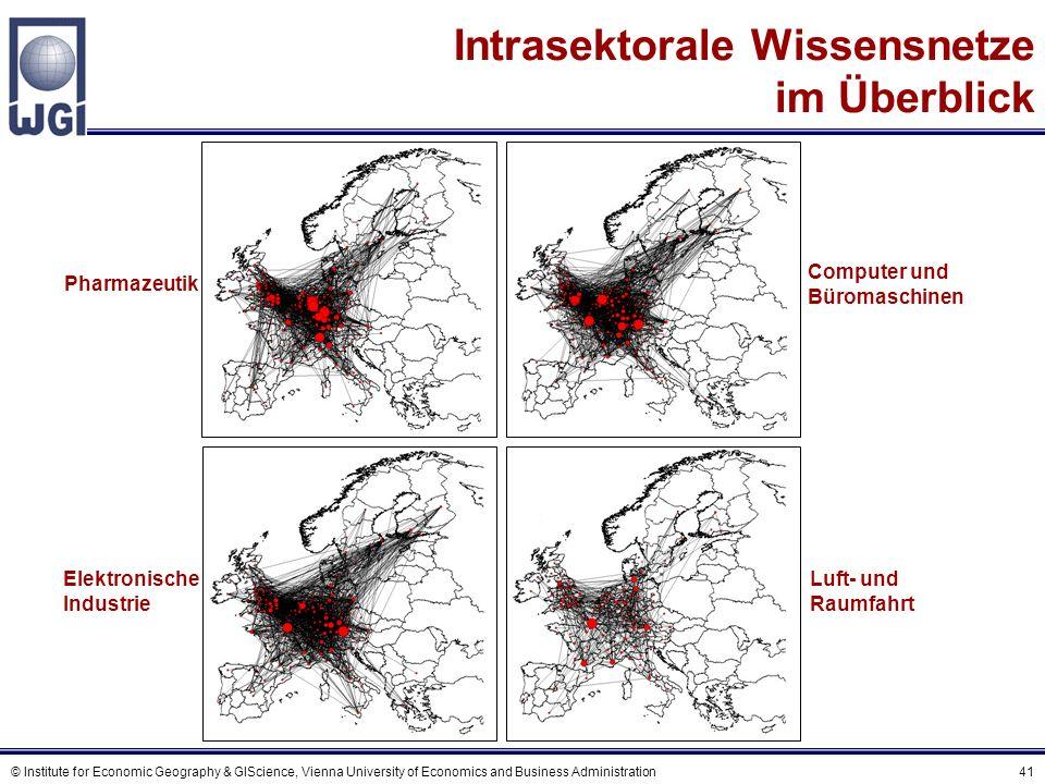 D Geographische Distanz als Barriere für Wissensflüsse
