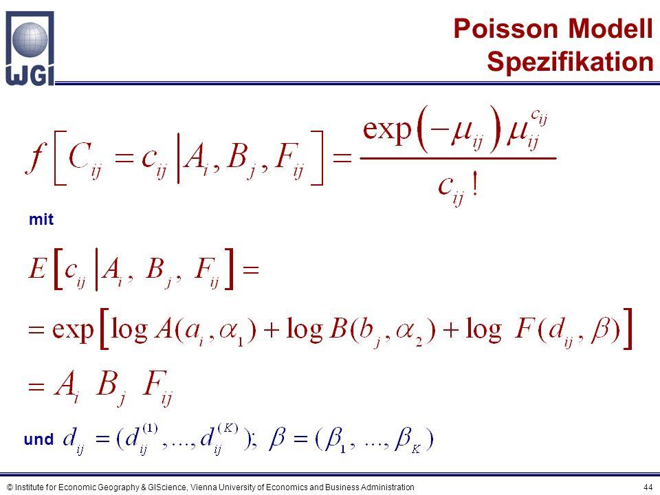 Eine Charakteristik des Poisson Modells