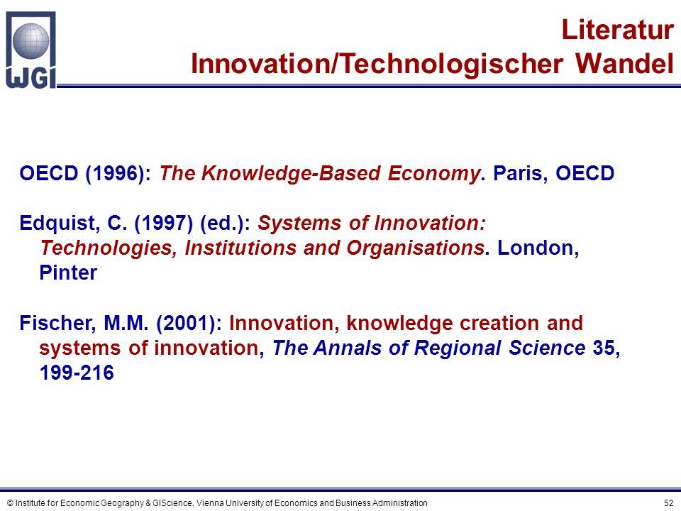 Literatur Innovationsnetzwerke