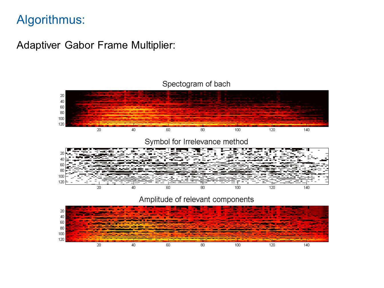 Algorithmus: Adaptiver Gabor Frame Multiplier: