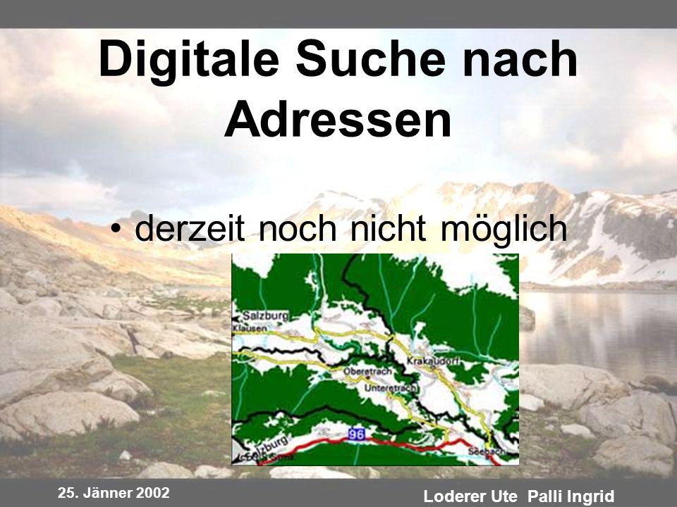 Digitale Suche nach Adressen