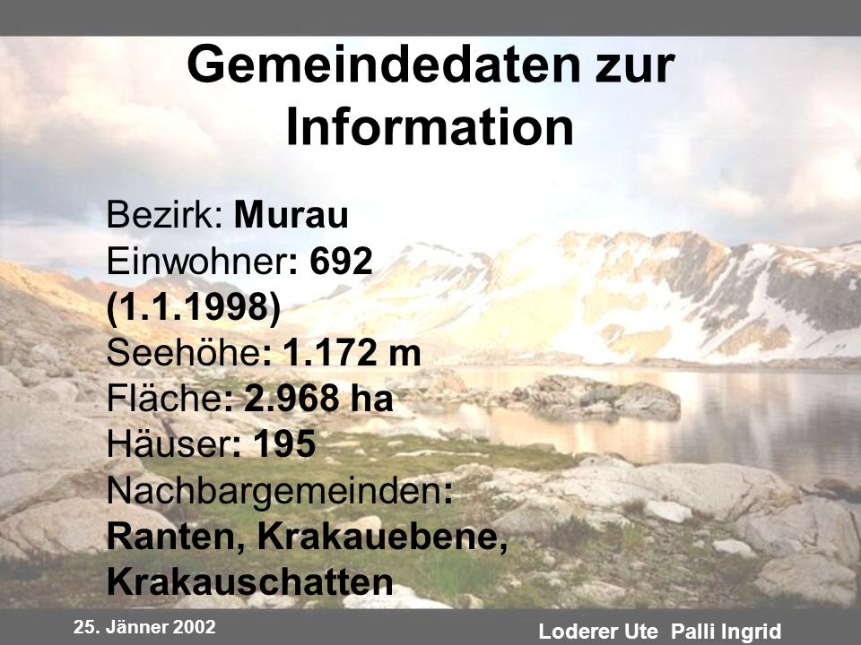 Gemeindedaten zur Information