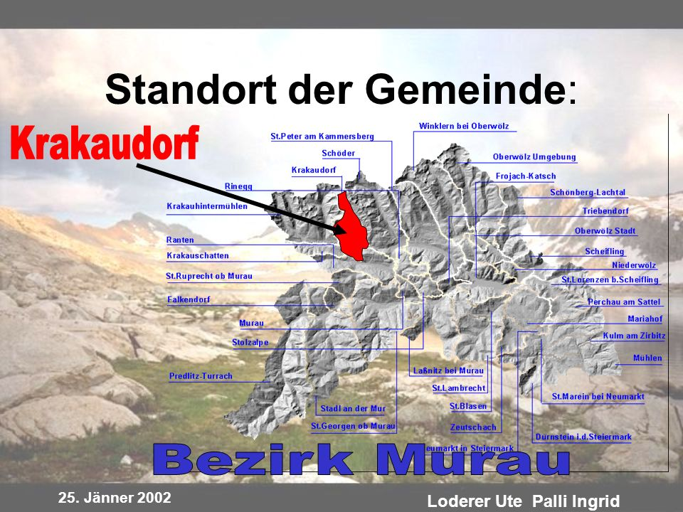 Standort der Gemeinde: