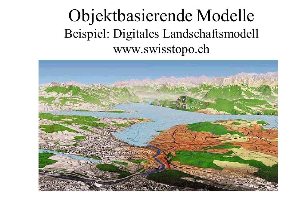 Objektbasierende Modelle Beispiel: Digitales Landschaftsmodell www
