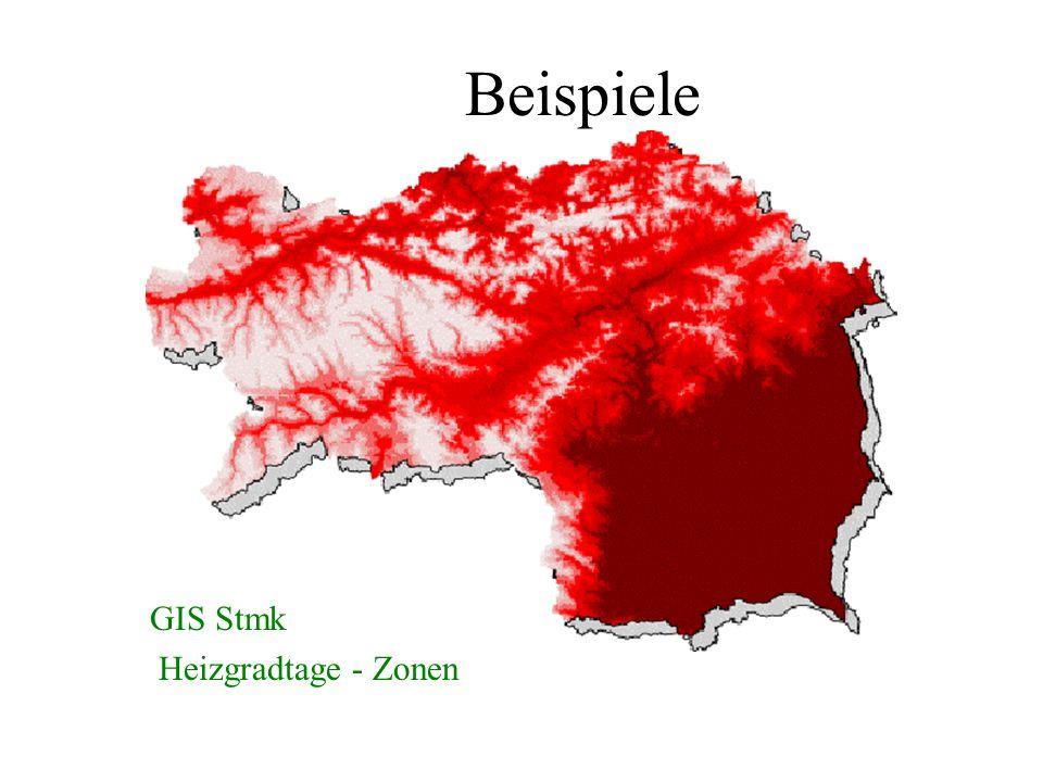 Beispiele GIS Stmk Heizgradtage - Zonen