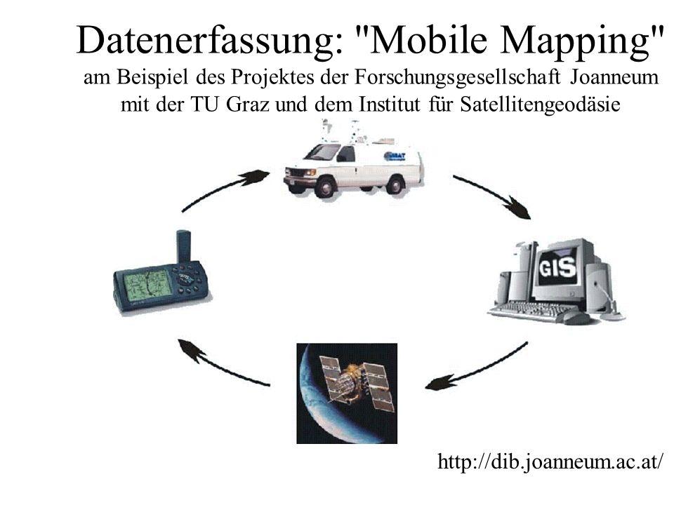 Datenerfassung: Mobile Mapping am Beispiel des Projektes der Forschungsgesellschaft Joanneum mit der TU Graz und dem Institut für Satellitengeodäsie