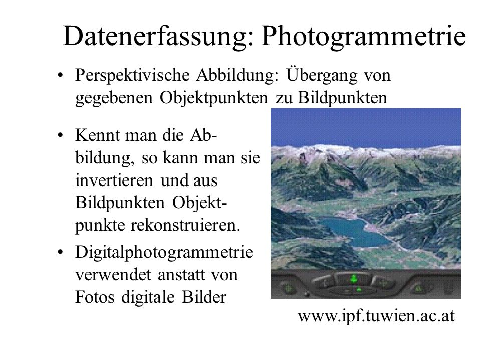 Datenerfassung: Photogrammetrie