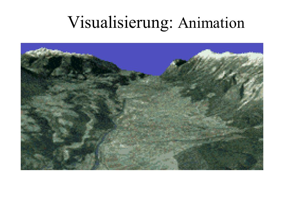 Visualisierung: Animation