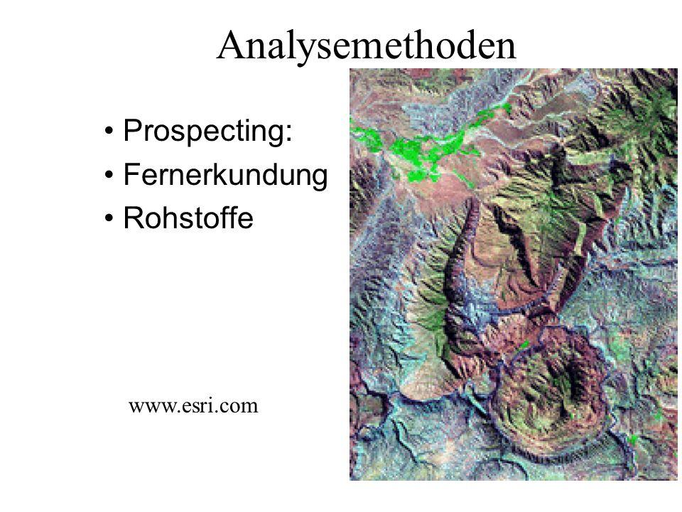 Analysemethoden Prospecting: Fernerkundung Rohstoffe www.esri.com