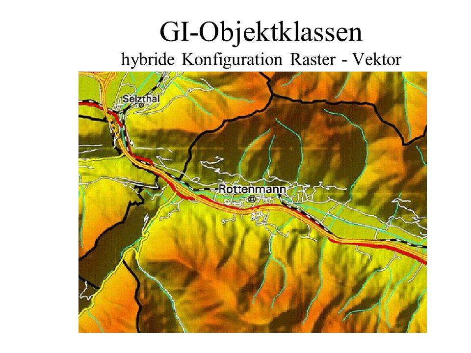 GI-Objektklassen hybride Konfiguration Raster - Vektor