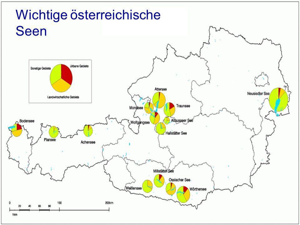 Wichtige österreichische Seen