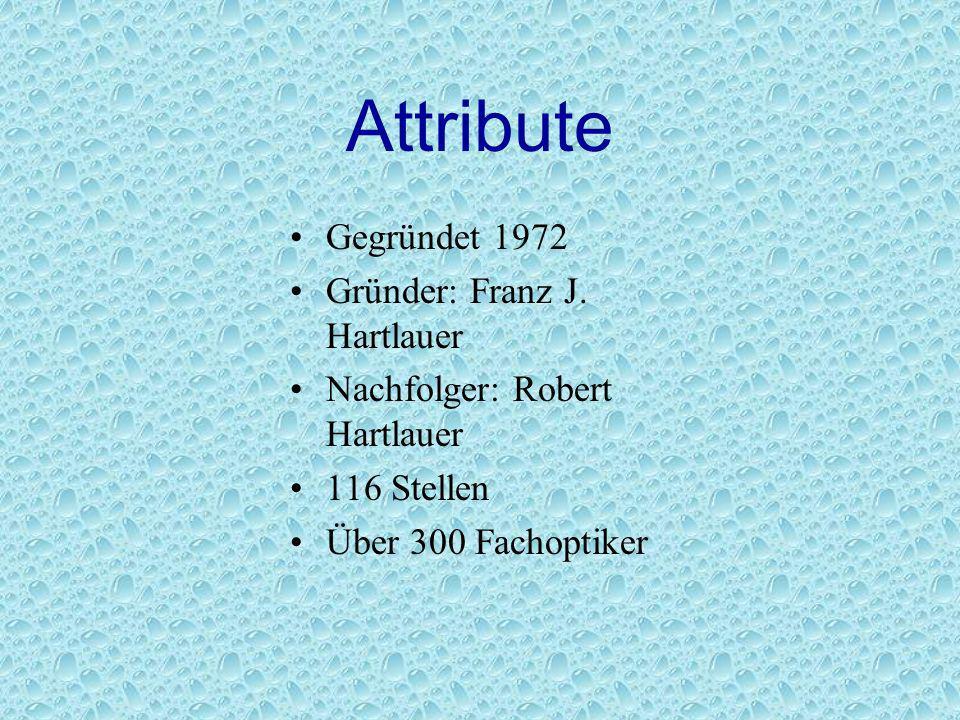 Attribute Gegründet 1972 Gründer: Franz J. Hartlauer