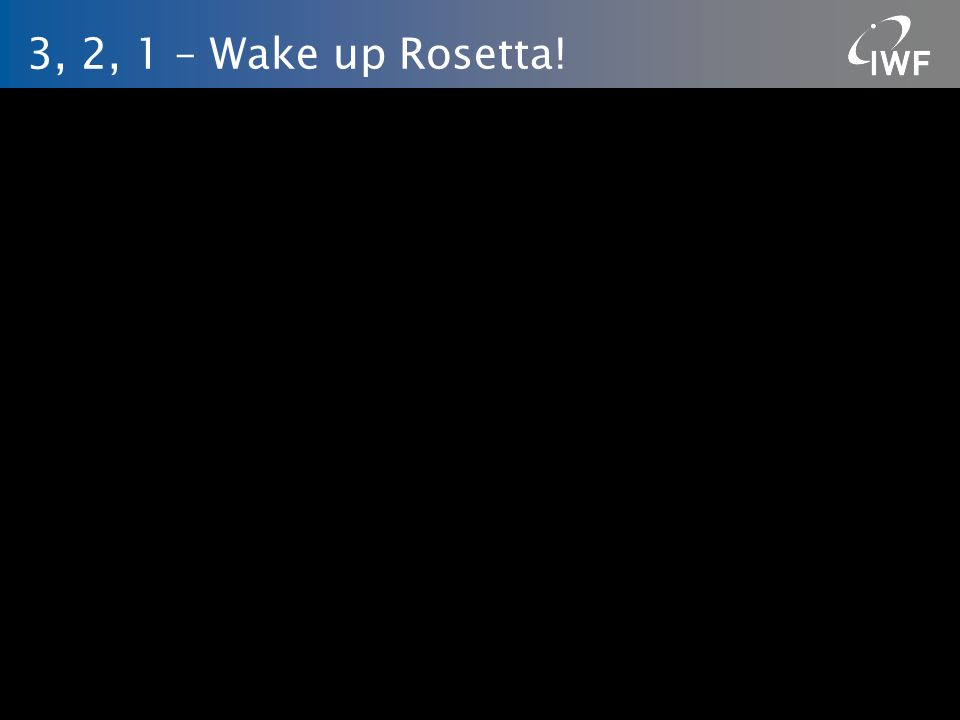 3, 2, 1 – Wake up Rosetta! IWF/ÖAW